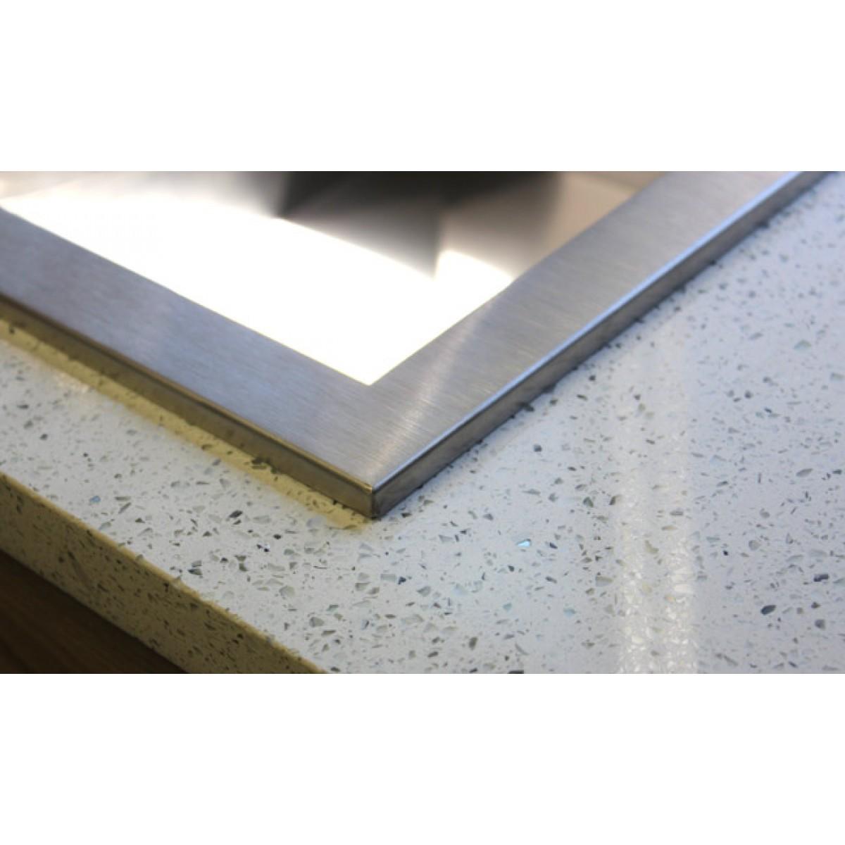 33 Inch Top Mount Drop In Stainless Steel 60 40 Double Bowl Kitchen Sink Zero Radius Design