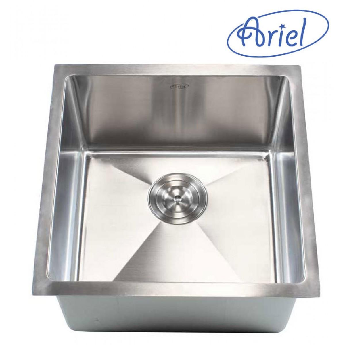 Ariel 18 Inch Stainless Steel Undermount Single Bowl Kitchen / Bar ...
