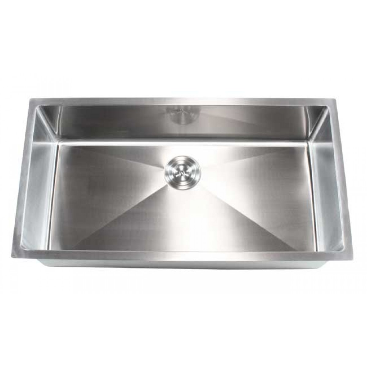 36 Inch Stainless Steel Undermount Single Bowl Kitchen Sink 15mm Radius Design 16 Gauge