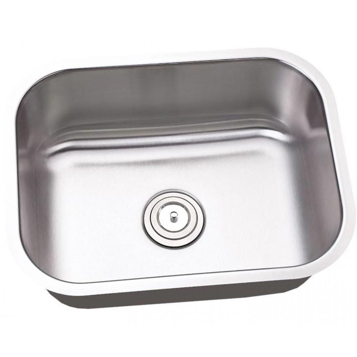 Kitchen Island With Sink Dimensions: 23 Inch Stainless Steel Undermount Single Bowl Kitchen Island / Bar Sink