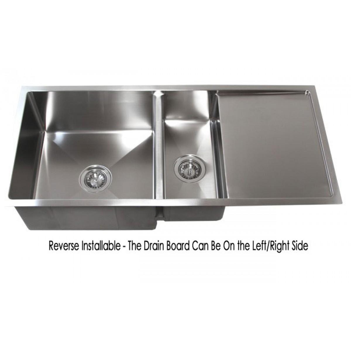 Used Kitchen Sink: 42 Inch Stainless Steel Undermount Double Bowl Kitchen