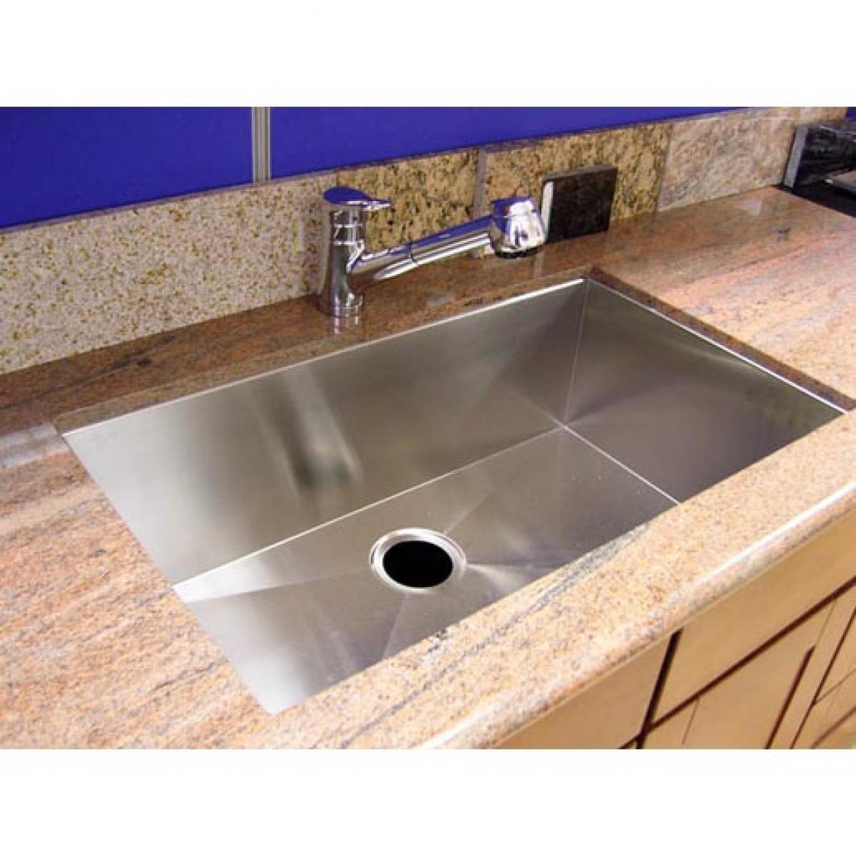 36 Inch Stainless Steel Undermount Single Bowl Kitchen Sink Zero Radius Design