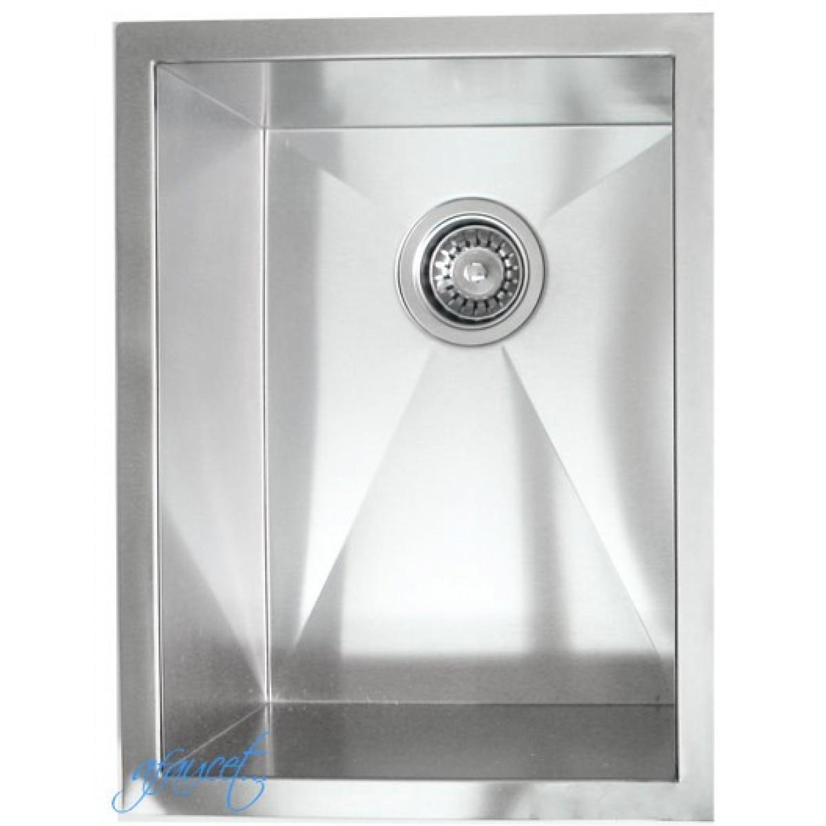 15 Inch Stainless Steel Undermount Single Bowl Kitchen / Bar / Prep ...