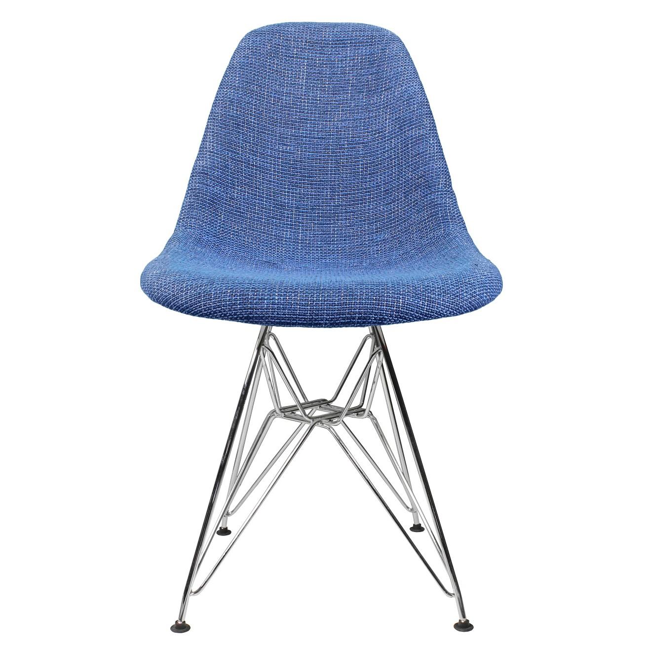 Blue Fabric Upholstered Mid Century Eames Style Accent