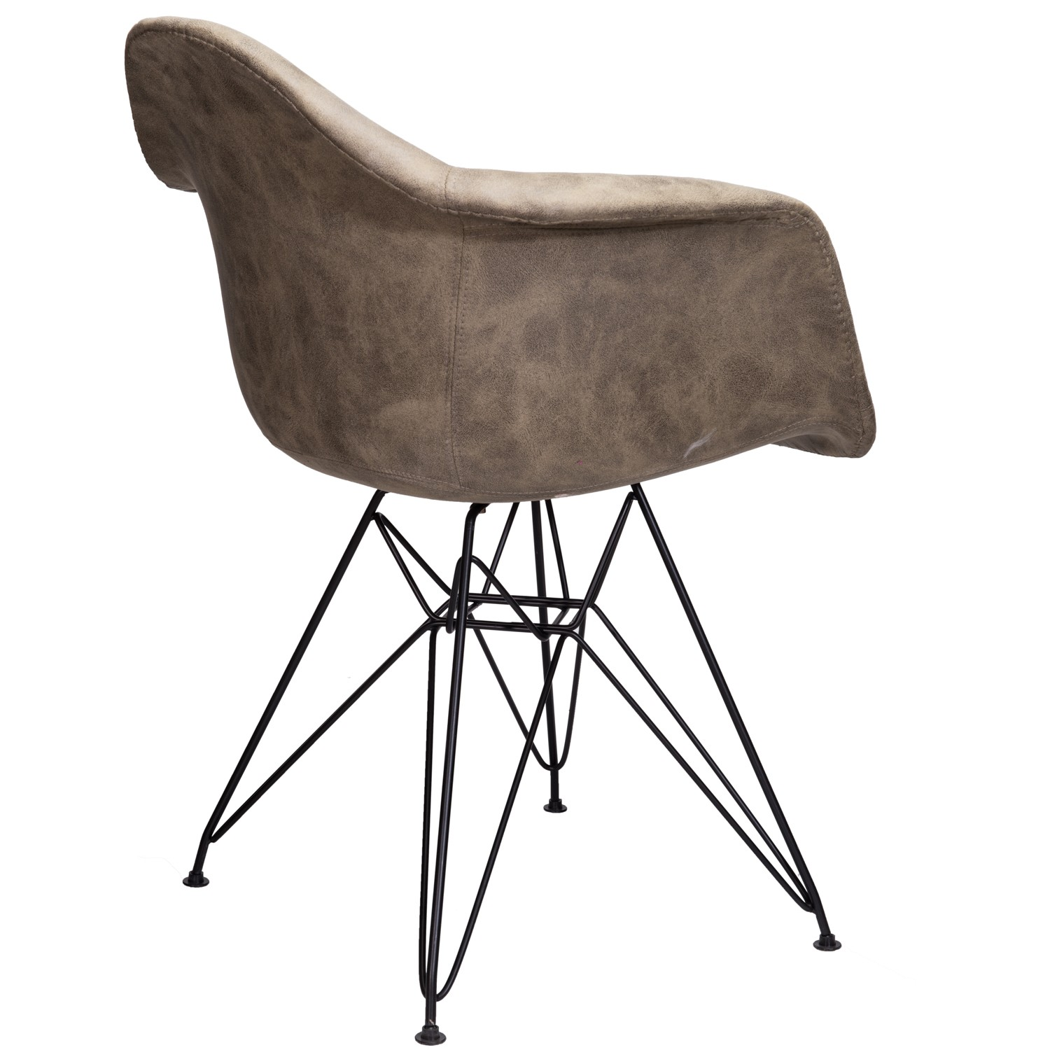 Markle Light Brown Leatherette Fabric Upholstered Daw