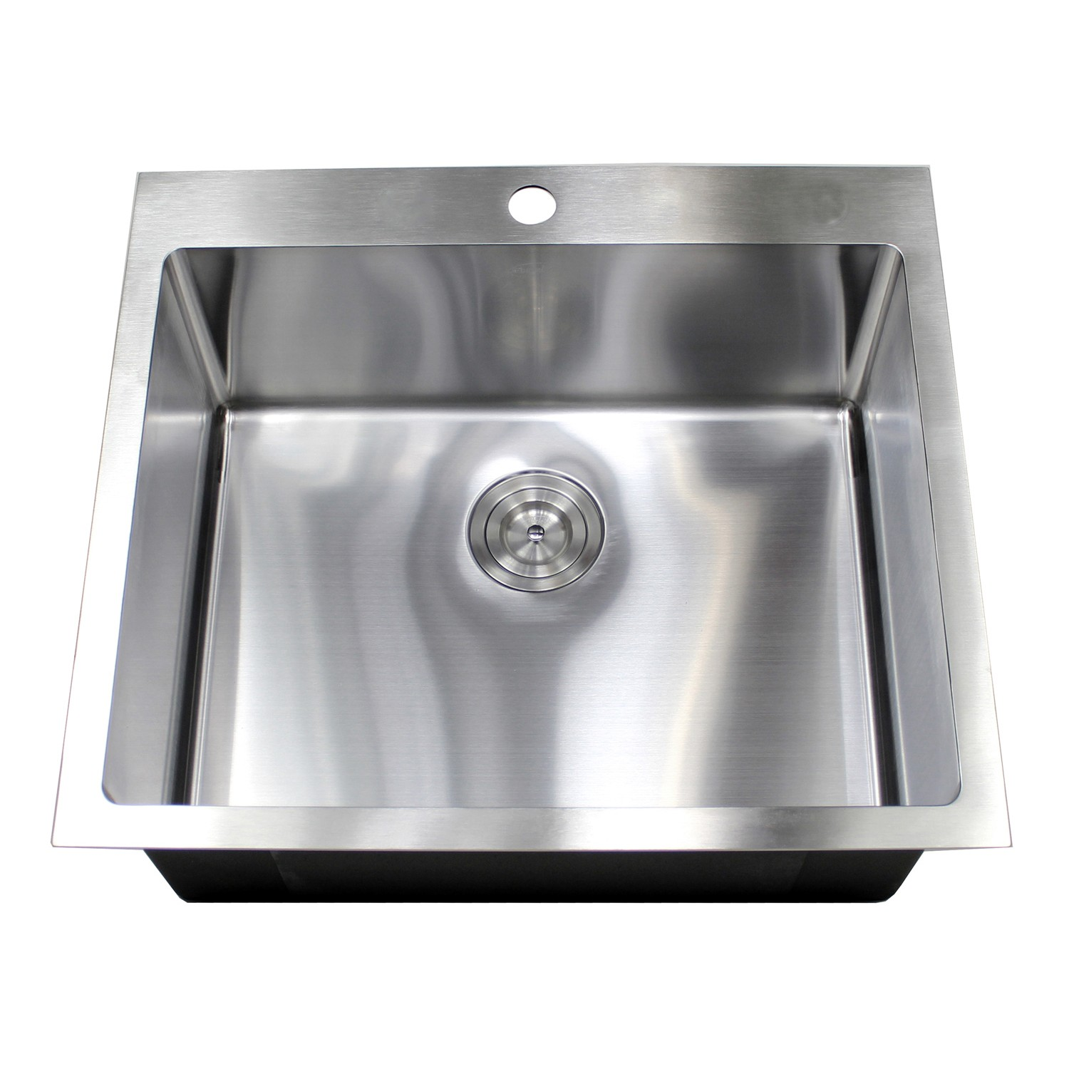 25 Inch Top-Mount / Drop-In Stainless Steel Single Bowl