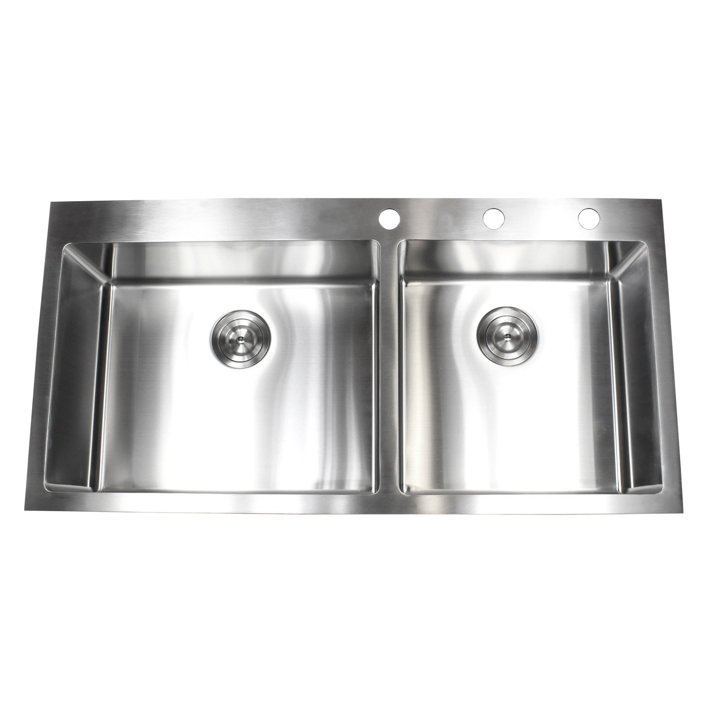 Drop In Kitchen Sink White Mm X