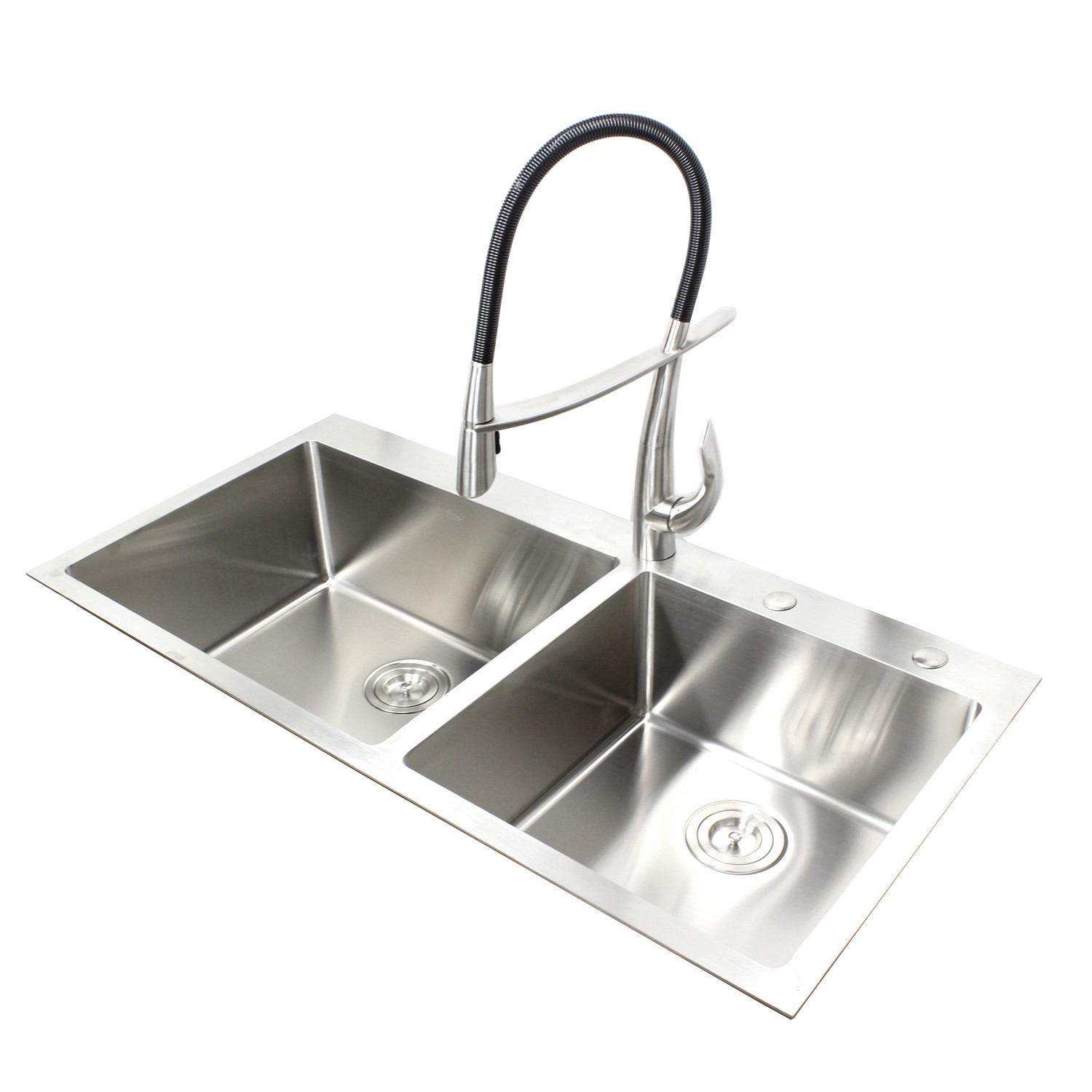 Cool 43 Inch Topmount Drop In Stainless Steel Double Bowl Kitchen Sink 15Mm Radius Design Complete Home Design Collection Lindsey Bellcom
