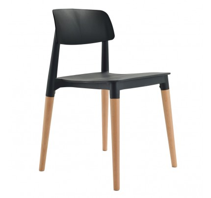 Bel Black Dining Bistro Cafe Modern Minimalist Side Chair