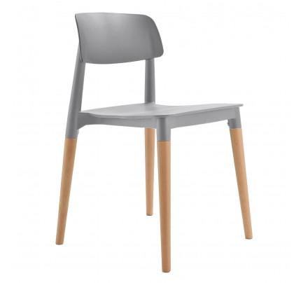 Bel Gray Dining Bistro Cafe Modern Minimalist Side Chair