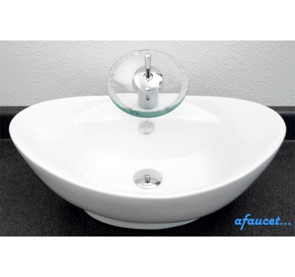 Porcelain Ceramic Single Hole Countertop Bathroom Vessel Sink   23 X 15 1/2