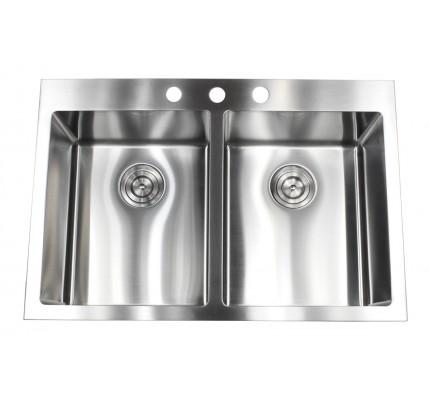 32 inch stainless steel undermount single bowl kitchen sink zero