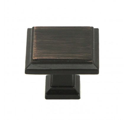 1 4 Inch Square Cabinet Pull In Oil Rubbed Bronze Finish