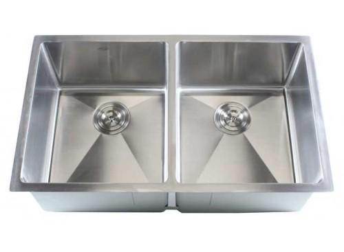 32 Inch Stainless Steel Undermount 50/50 Double Bowl Kitchen Sink - 16 Gauge
