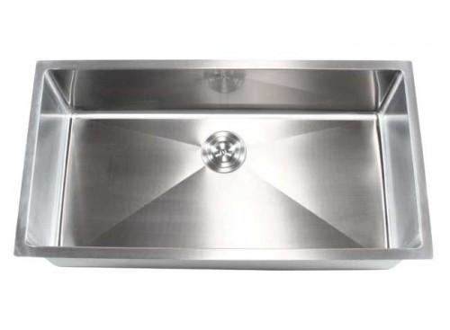 36 Inch Stainless Steel Undermount Single Bowl Kitchen Sink 15mm Radius Design - 16 Gauge