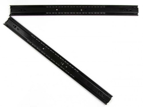 20 Inch Black Coated Full Extension Ball Bearing Drawer Slide