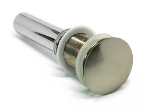 Brushed Nickel Bathroom Pop-up Drain with Overflow-1