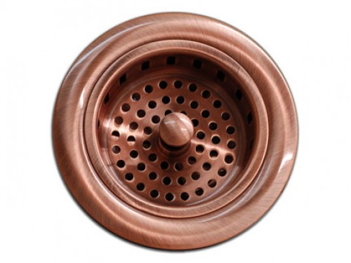 Kitchen / Bar Copper Sink Basket Strainer 3.5-inch