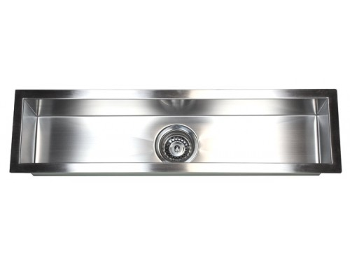 32 Inch Stainless Steel Undermount Single Narrow Bowl Kitchen / Bar / Prep Sink Zero Radius Design