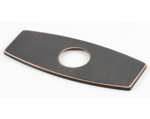 Bathroom Single Hole Sink Faucet Cover Deck Plate Escutcheon with Square Corners - Venetian Bronze