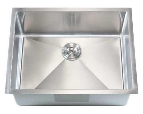 26 Inch Stainless Steel Undermount Single Bowl Kitchen / Bar Sink 15mm Radius Design - 16 Gauge