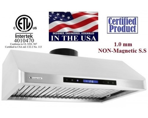 XtremeAIR 30 Inch Under Cabinet Stainless Steel Range Hood R130