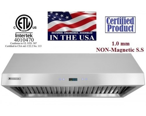 XtremeAIR 30 Inch Under Cabinet Stainless Steel Range Hood PX11-U30