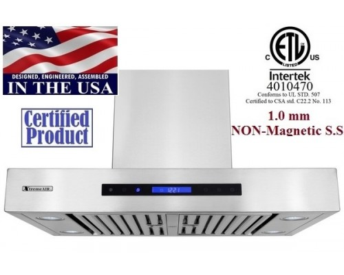 XtremeAIR 36 Inch Wall Mount Stainless Steel Range Hood PX06-W36