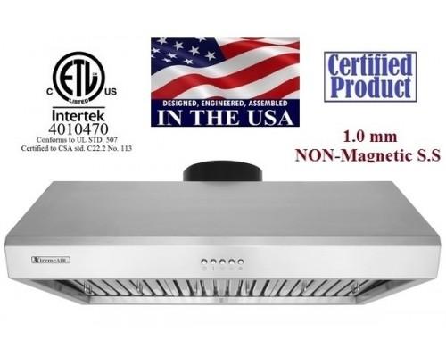 XtremeAIR 36 Inch Under Cabinet Stainless Steel Range Hood UL13-U36