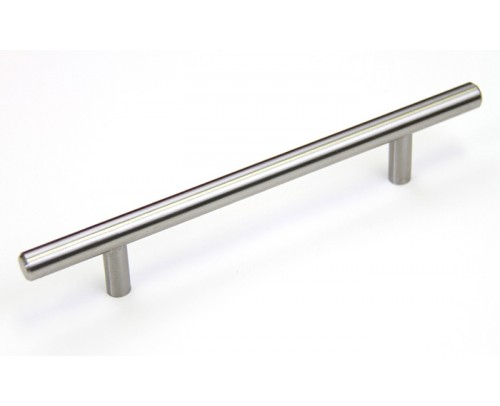 Euro 8 inch (200 mm) Cabinet Stainless Steel Handle Bar Pull with 5 Inch (127 mm) Hole to Hole Spacing