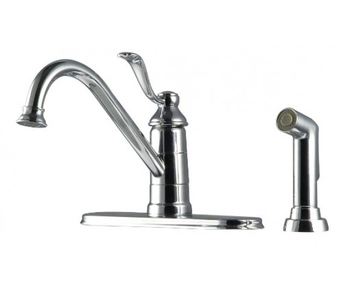 Pfister Portland Single Handle Lead Free Kitchen Faucet With Side Spray