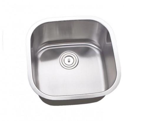 20 Inch Stainless Steel Undermount Single Bowl Kitchen Island / Bar Sink - 16 Gauge