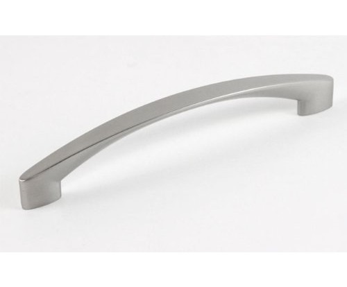 Crescent Design 7-1/8 inch (180 mm) Solid Zinc Alloy Cabinet Handle Bar Pull with 6-1/4 Inch (158 mm) Hole to Hole Spacing