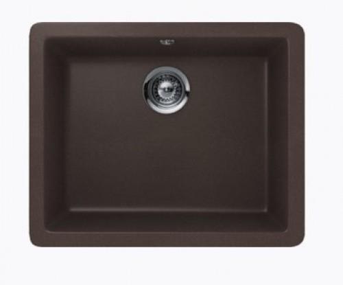 Mocha Quartz Composite Single Bowl Undermount / Drop In Kitchen Sink - 21-5/8 x 16-15/16 x 8 Inch