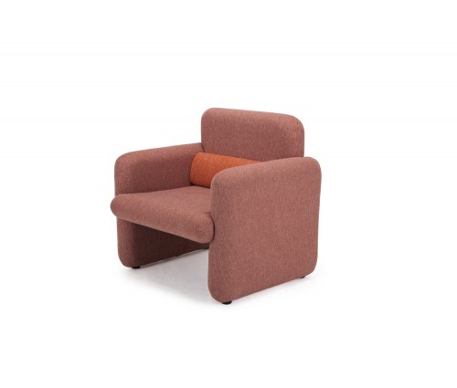Ross Series Red Woven Fabric Upholstered Modern Accent Single Seat Sofa Chair with matching back support cushion- Perfect for Home & Business