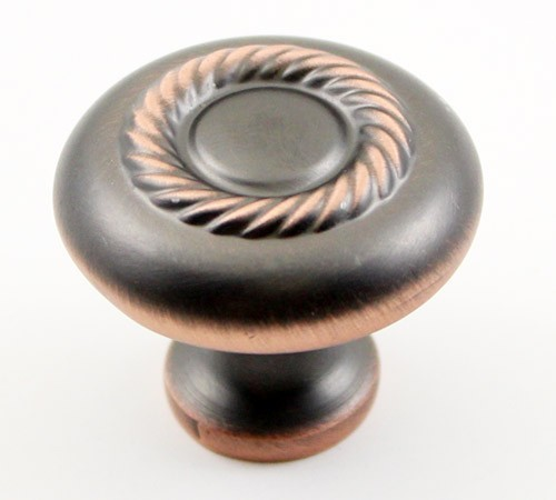 Horse Shoe 1-1/4 Inch Diameter Venetian Bronze Finish Cabinet Pull Knob