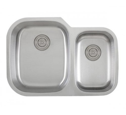 30 Inch Stainless Steel Undermount 60/40 Double Bowl Kitchen Sink - 18 Gauge