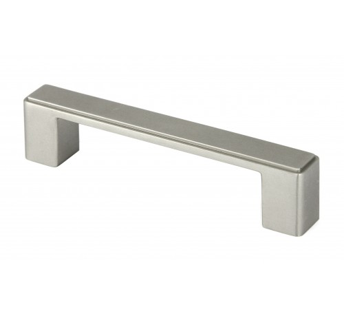 "4-1/2 inch Stainless Steel Square Cabinet Bar Pull Handle in Brushed Nickel Finish (3-3/4"" Hole to Hole Spacing)"