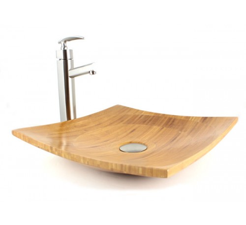 Virtue - Bamboo Countertop Bathroom Lavatory Vessel Sink  - 16 x 16 x 4-1/2 Inch