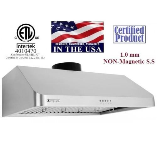 XtremeAIR 30 Inch Under Cabinet Stainless Steel Range Hood UL10-U30