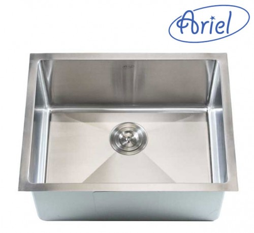 23 Inch Stainless Steel Undermount Single Bowl Kitchen / Bar Sink 15mm Radius Design - 16 Gauge