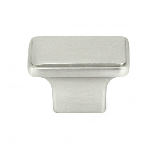 1-1/2 inch Stainless Steel Square Cabinet Pull Knob in Brushed Nickel Finish