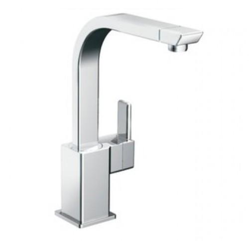 Moen 90 Degree Lead Free Single Handle High Arc Kitchen Faucet