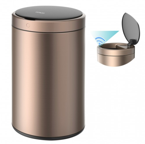 CozyBlock 3.2 Gallon 12L Automatic Trash Can, Stainless Steel Touchless Motion Sensor Bin, Quiet Soft Close Lid, IPX4 Waterproof