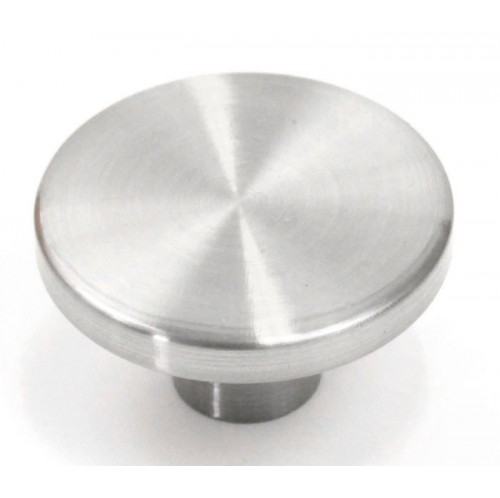 Ale 1-1/4 Inch Cabinet Pull Knob Brushed Nickel Finish