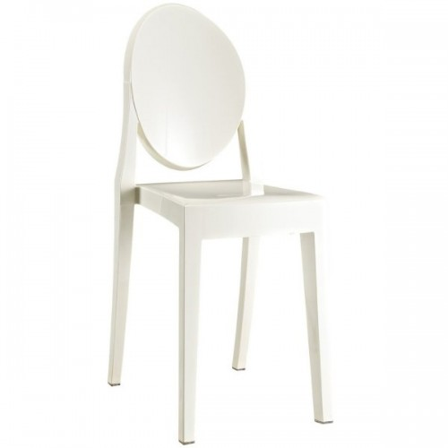 Victoria Style Ghost Dining Chair White Color