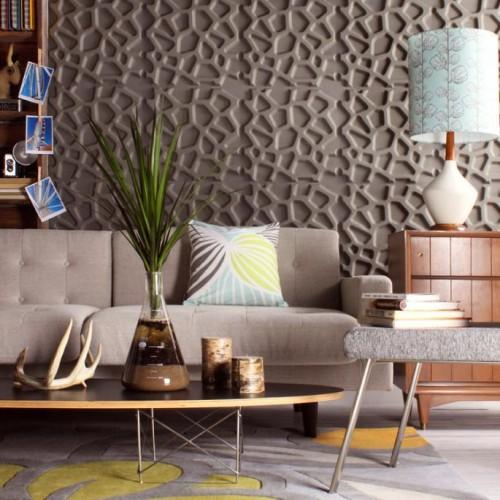 Hive Pattern Design 3D Glue On Wall Panel / Wall Flats - Box of 10 (26.67sqft)