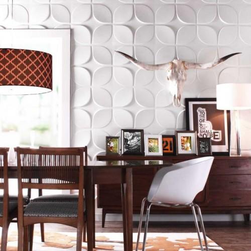 Lotus Pattern Design 3D Glue On Wall Panel / Wall Flats - Box of 12 (32.28 sqft)