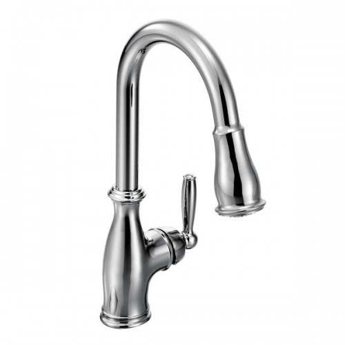Moen Brantford Lead Free Single Handle Pull Out Kitchen Faucet