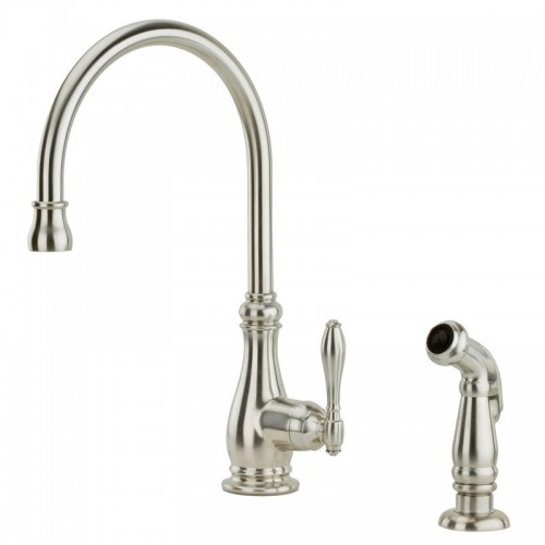 Pfister Alina Lead Free Single Handle High Arc Kitchen Faucet With Side Spray
